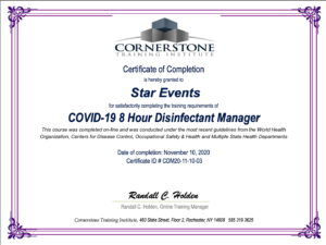 Covid safe event certification