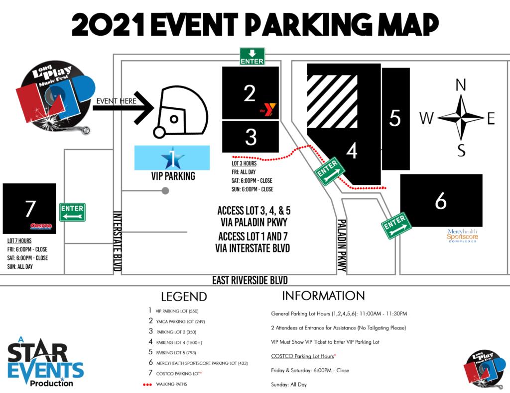 Long Play Music Fest Parking Map
